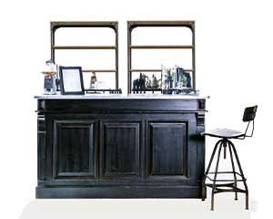 Bar Back Libreria in Legno Nera